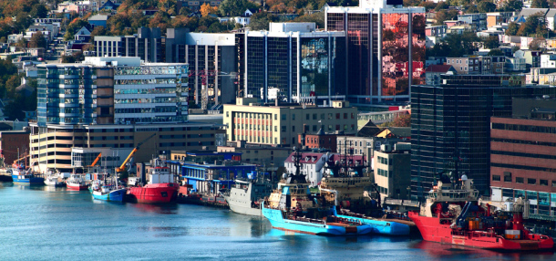 Downtown of Newfoundland and Labrador Capital